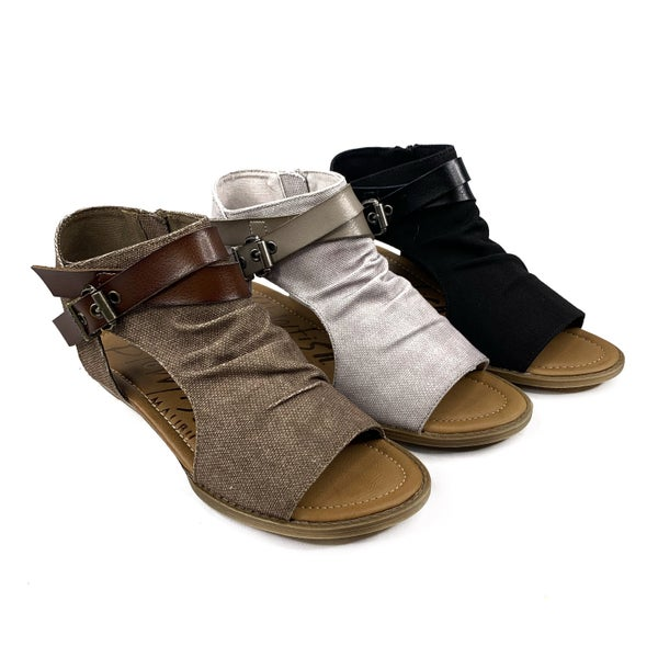 Blowfish Zip Up Canvas Sandals - 3 Colors!