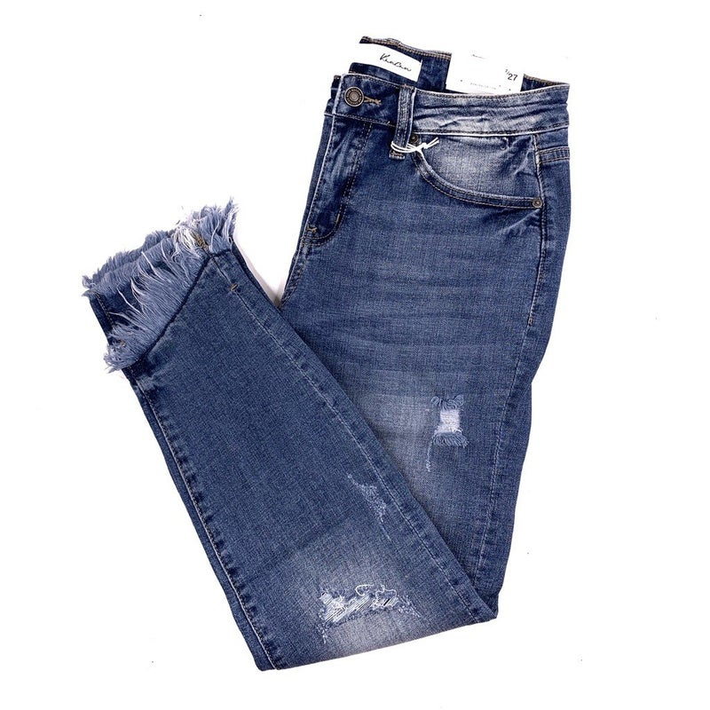 """PLUS/REG Kan Can Don't Be A""""frayed"""" Skinnies"""