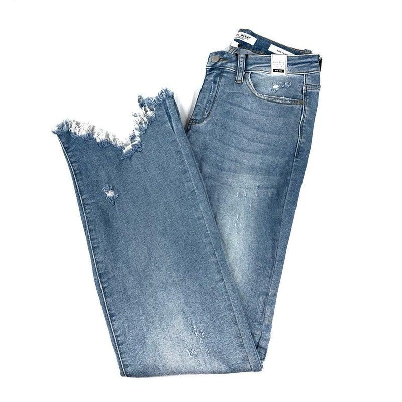 Plus/Reg Judy Blue Graduation Day Sharkbite Bootcut Jeans