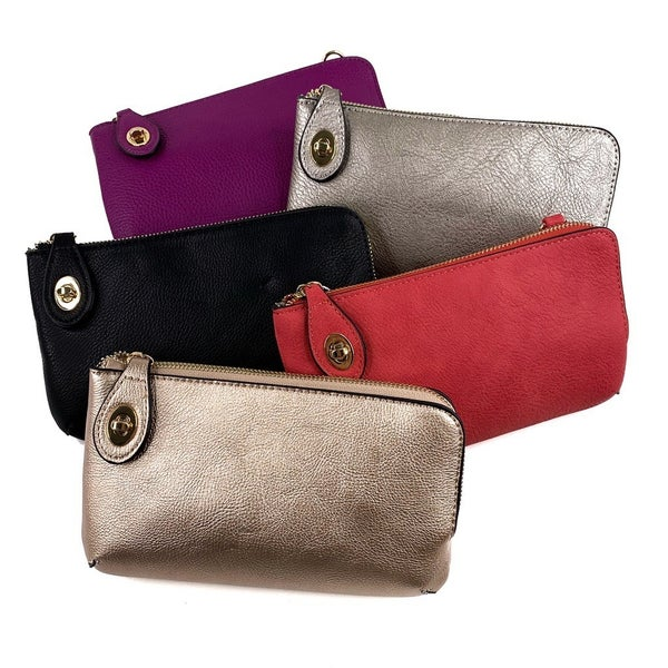 Vegan Clutch with Interchangeable Straps