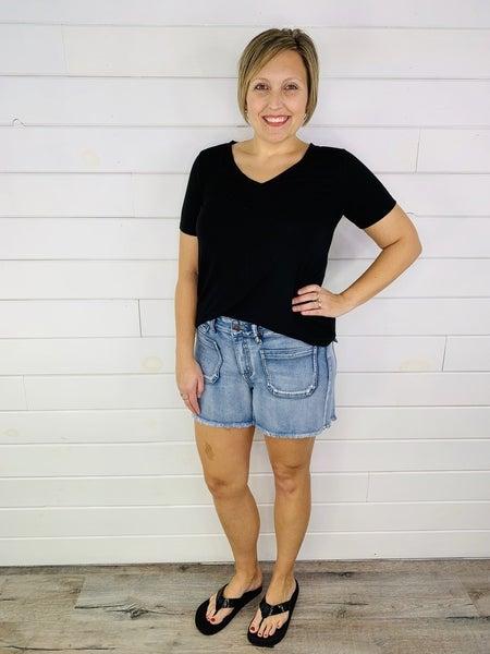 PLUS/REG Judy Blue Pocket Full Of Stretch Shorts