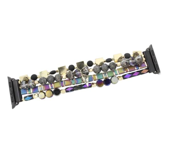 Erimish Iridescent Beaded Apple Watch Band