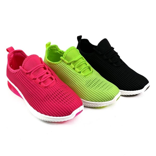 Lightweight Mesh Neon Sneakers