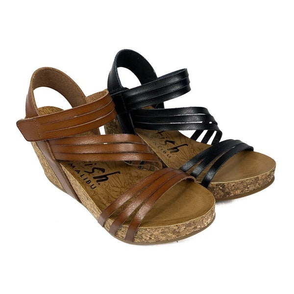 Blowfish Strappy Wedges -- 2 Colors!