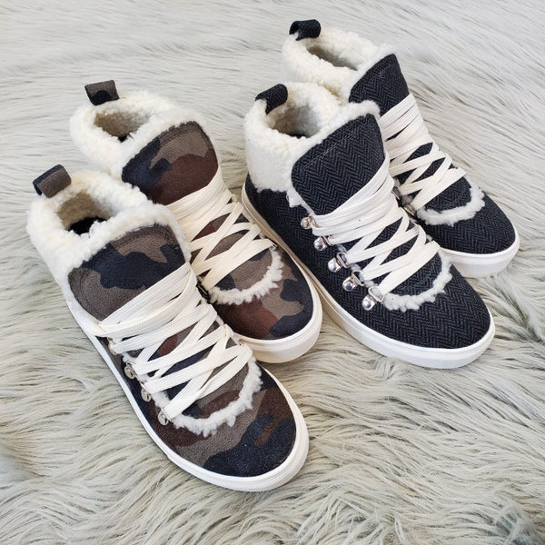 Very G Covered In Comfort Sneakers- 2 Colors!