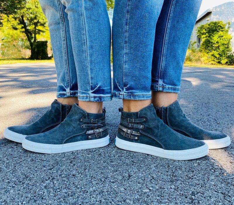 Blowfish Smoked Blackish Strappy Sneakers