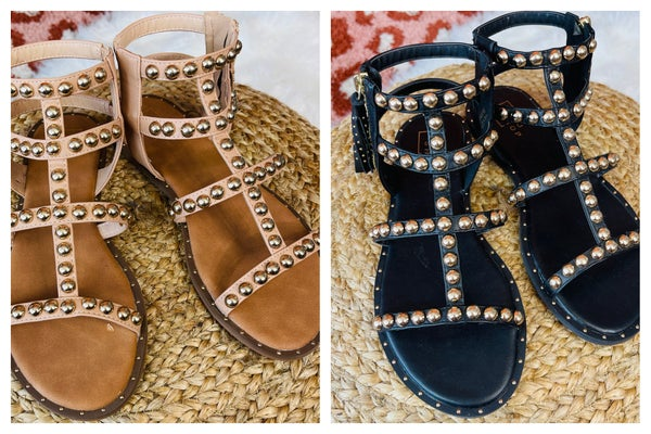 Baja Babe Studded Sandals-2 COLORS!