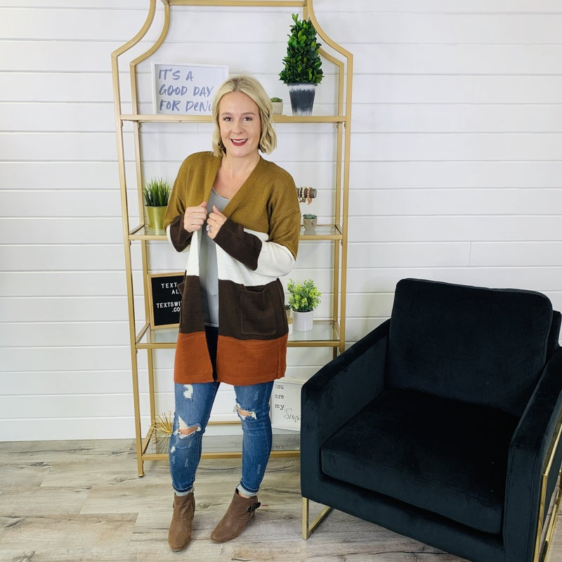 PLUS/REG A Faithful Fall Cardi