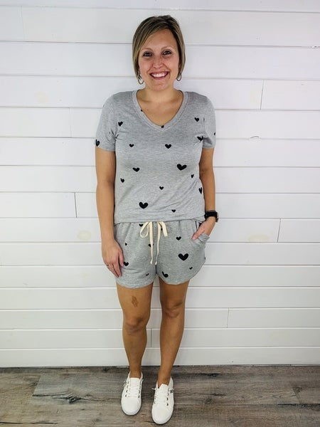 PLUS/REG HoneyMe Heart Lounge Shorts