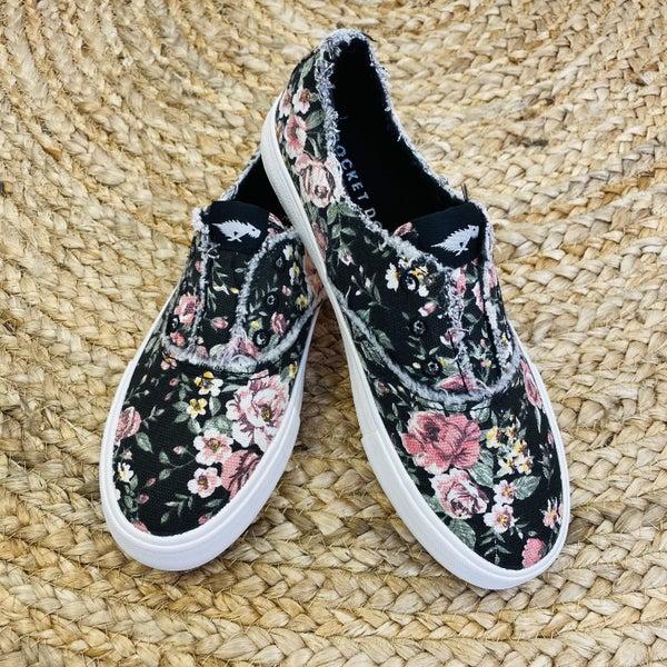 RocketDog Black Floral Slip on Sneaker