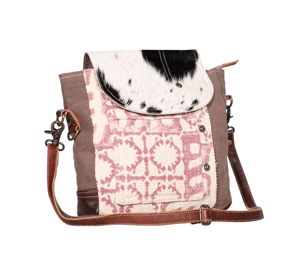 Myra Bag Fur and Wine Print Crossbody