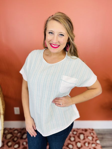 Plus/Reg Perfectly Striped Top
