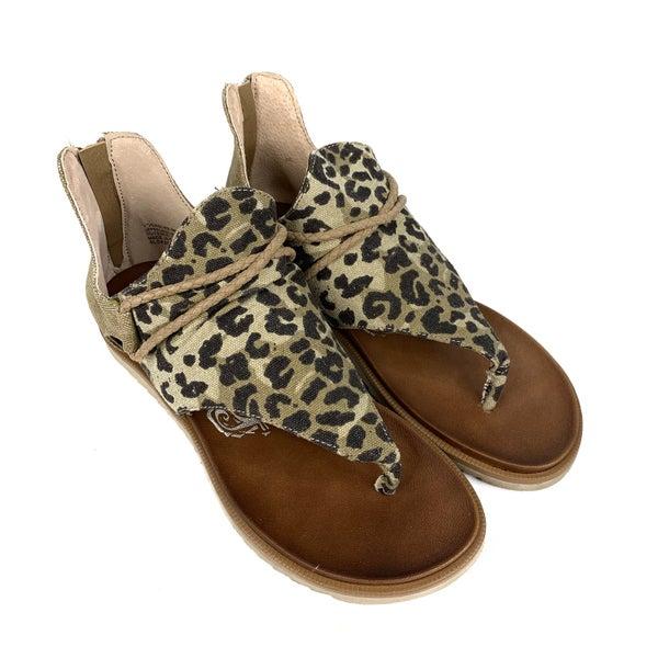 PREAUTHORIZE! Leopard Gladiator Sandal