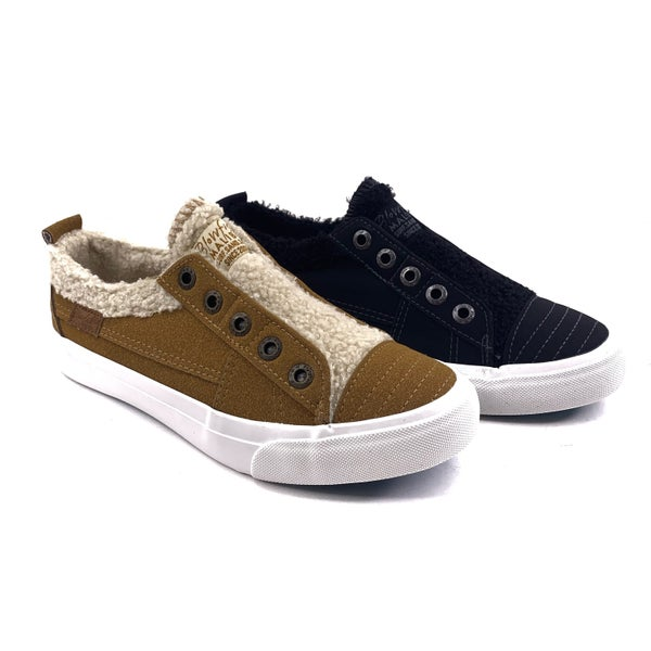 Blowfish Sherpa and Suede Slip On Sneaker