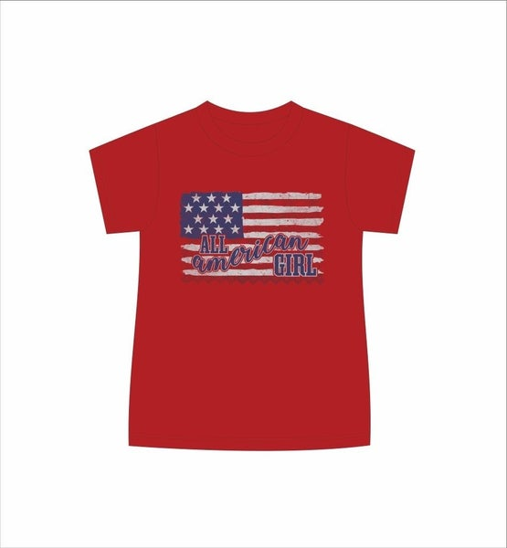 Kids Tee All American Girl *Final Sale*