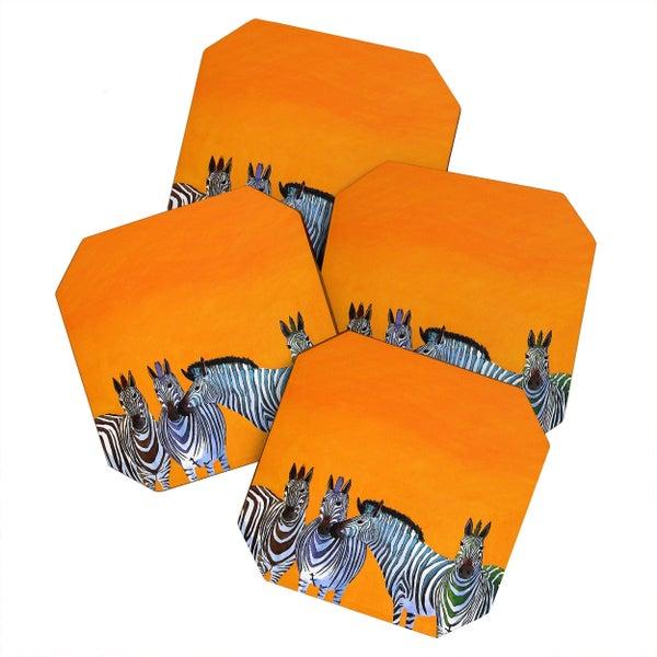 Candy Zebras Coaster Set *Final Sale*