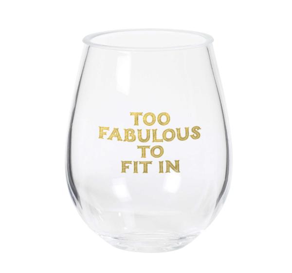 Too Fabulous Stemless Wine Glass