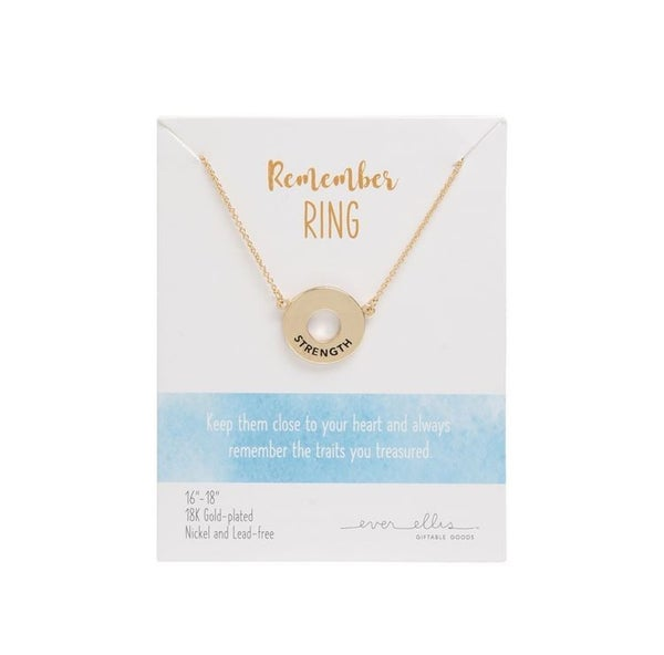 Remember Ring Necklace Strength