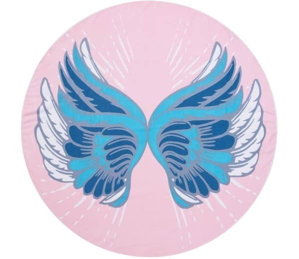 Circle Photo Towel-Angel Wings