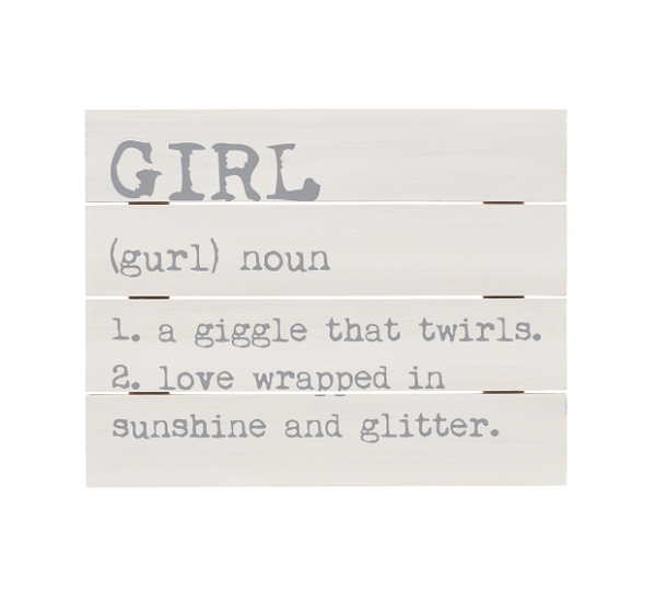 Girl Definition Pallet Sign
