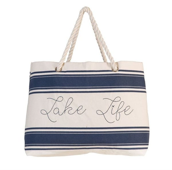 Lake Life Canvas Tote