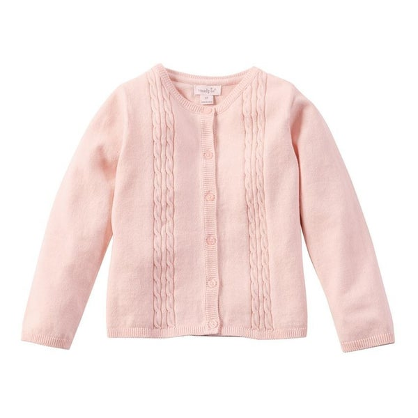 Pink Cardigan Cable Knit *Final Sale*