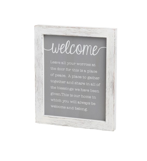 Welcome Worries Framed Sign