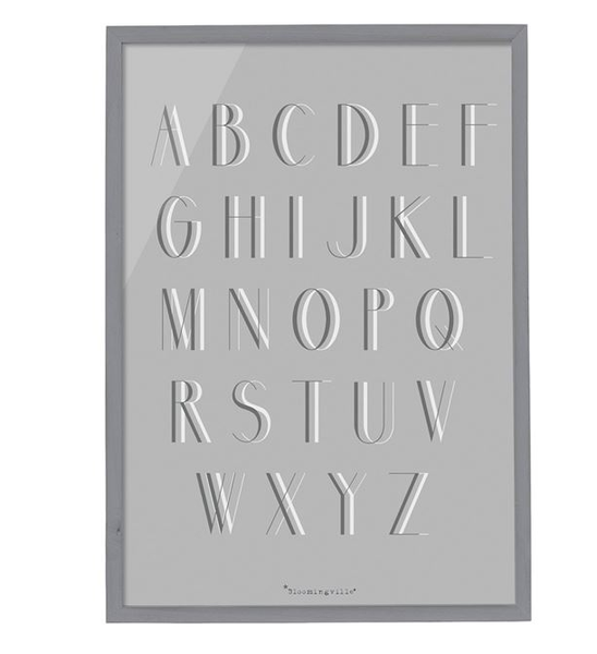 Alphabet Wood Framed Wall Decor