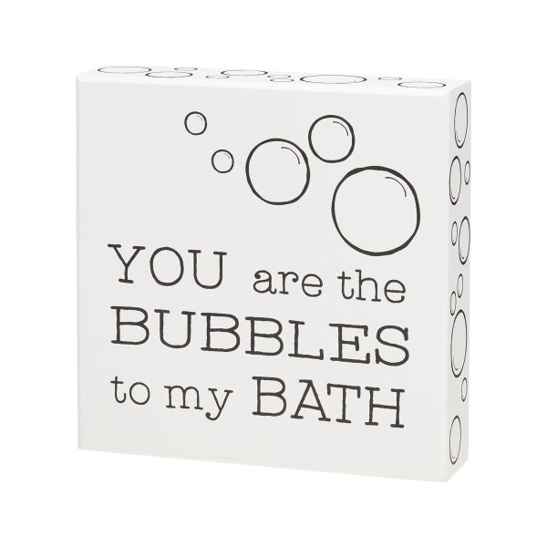 Bubble Bath Box Sign