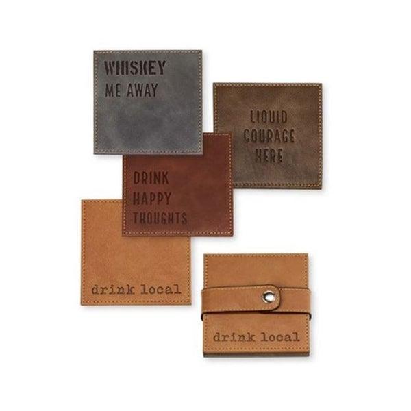 Faux Leather Coaster Set