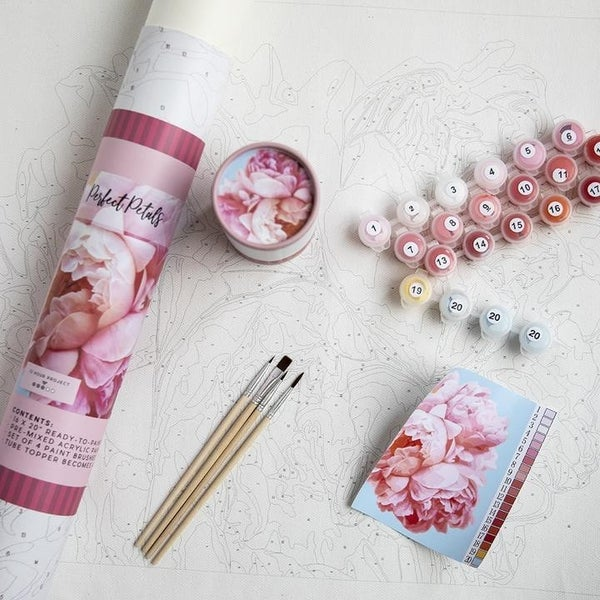 Perfect Petal Paint by Number Set by Pink Picasso