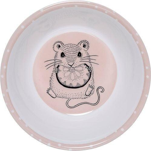 Kids Melamine Bowl Pink