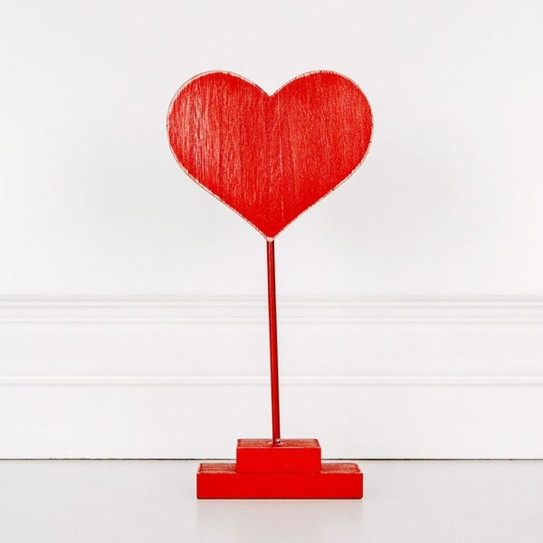 Cutout Heart on Stand Red