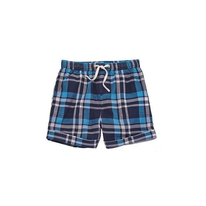 Blue Plaid Shorts *Final Sale*
