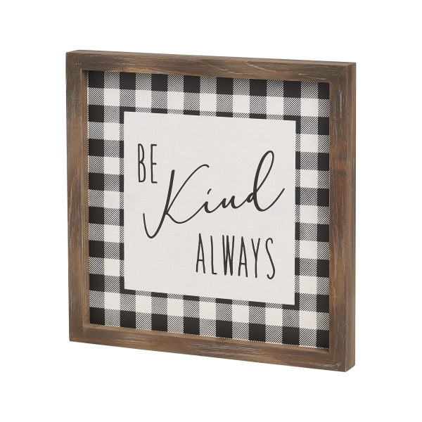 Be Kind Framed Sign