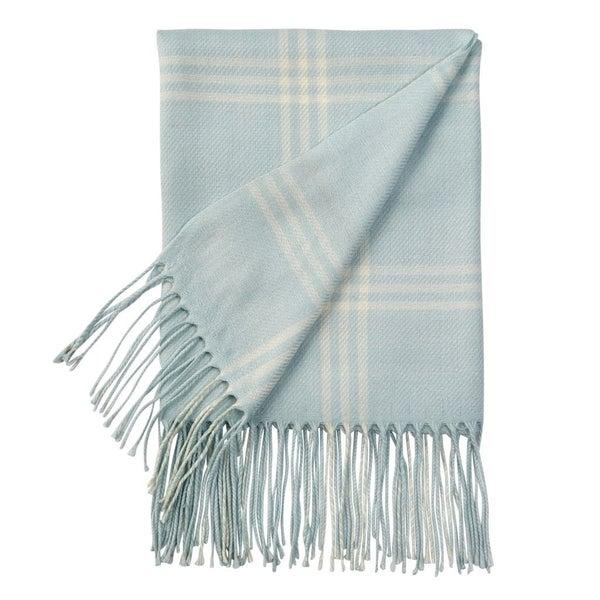 Blue Plaid Baby Blanket