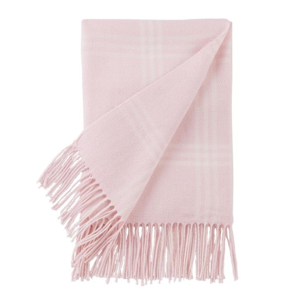Pink Plaid Baby Blanket