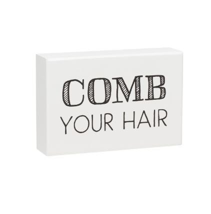 Comb Hair Box Sign