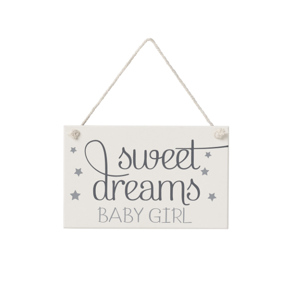 Sweet Dreams Girl Hanging Sign