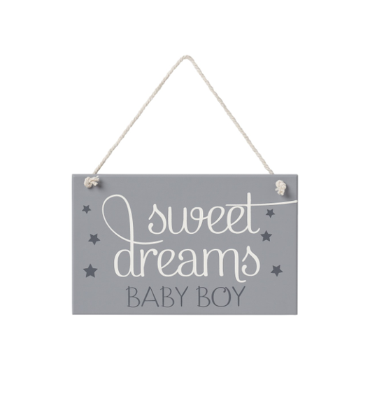 Sweet Dreams Boy Hanging Sign
