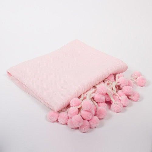Pink Pom Pom Throw