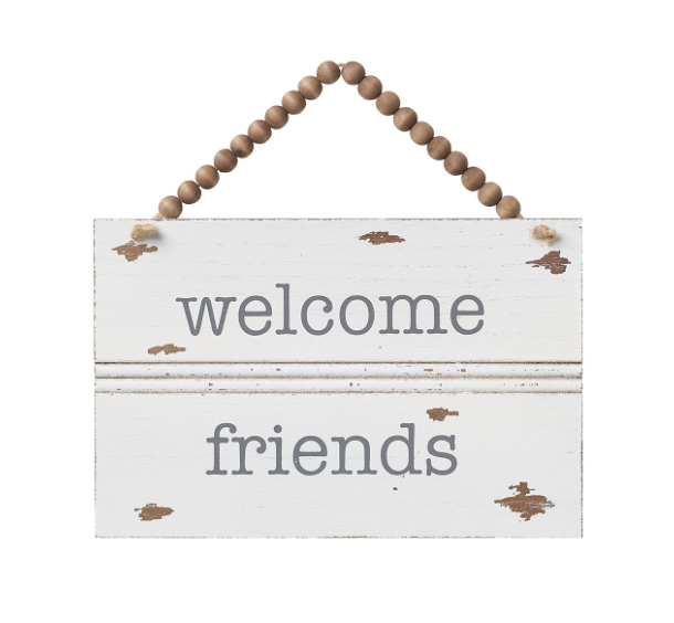 Welcome Friends Trim Sign