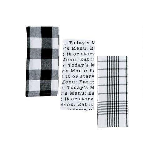 Today's Menu Set of 3 Towels