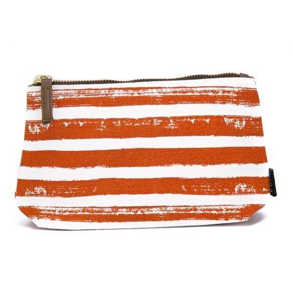 Tangerine Striped Pouch
