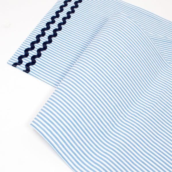 Blue Seersucker Table Runner