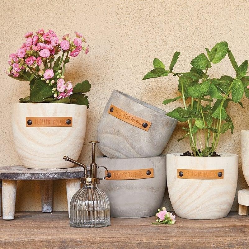 Wood Planter - Flower Power