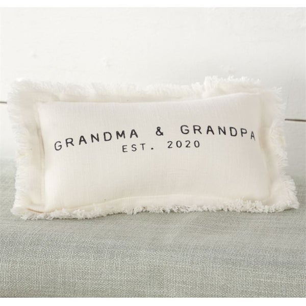 Grandma Grandpa Est 2020 Pillow