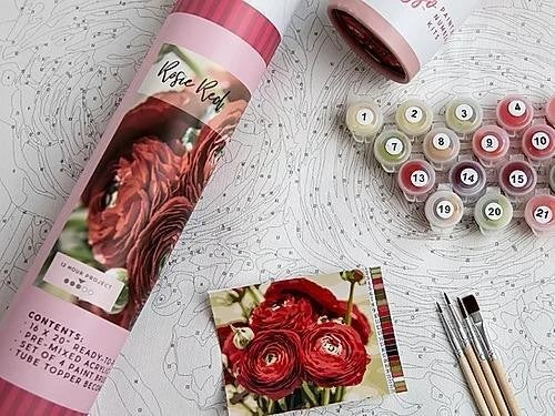 Rosie Reds Paint by Number Set by Pink Picasso