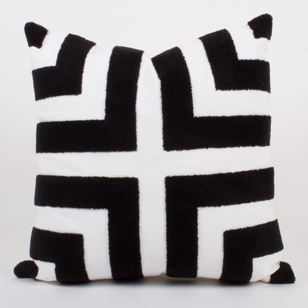 Black/White Loop Terry Pillow