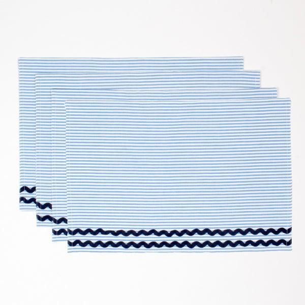 Blue Seersucker Placemat Set of 2